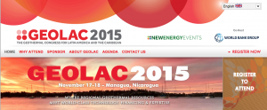 Screenshot from the GEOLAC 2015 Website