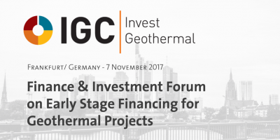 Foro geotérmico IGC Invest Geothermal – Geothermal Finance & Investment, Nov 7, 2017