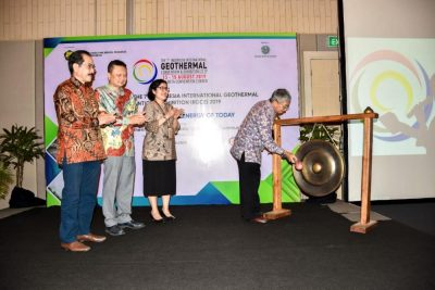 EBTKE/INAGA en Indonesia Intl Geothermal Convention, agosto de 2019