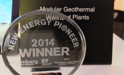 "Green Energy Group recibe el galardon ""Energy Pioneer"" por parte de Bloomberg"