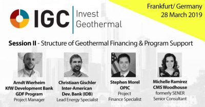 IGC Invest Geothermal – Panel de estructura de financiamiento