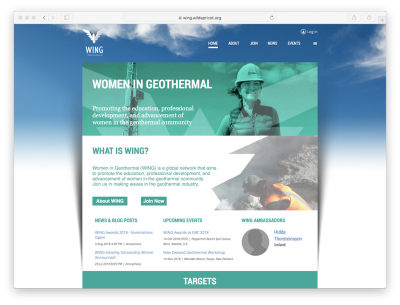 EE. UU. ha asumido el liderazgo global de Women in Geothermal (WING)